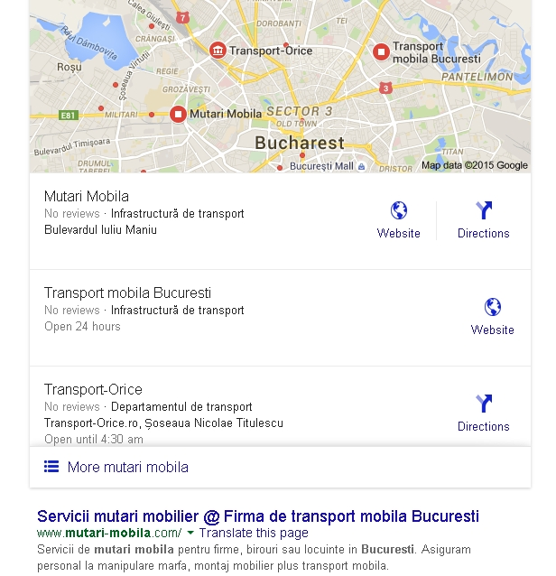 Insertii rezultate locale in rezultatele Google