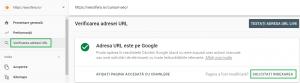 Optiune solicitare indexare pagina in Google Search Console