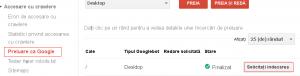 Optiune solicitare indexare rapida in Google Search Console